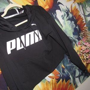 Puma Tops - Black Cropped PUMA Sweatshirt